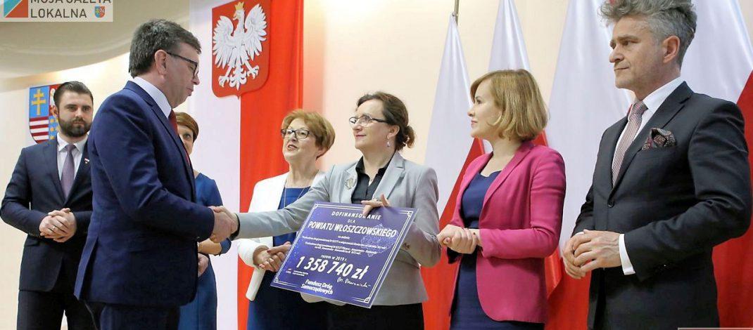 Powiat włoszczowski otrzymał ponad 1,3 miliona złotych dotacji z budżetu państwa na dwie drogi