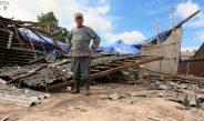 Armagedon w Dąbiu. Trąba powietrzna zerwała kilka dachów na budynkach. Posłuchajcie relacji mieszkańców