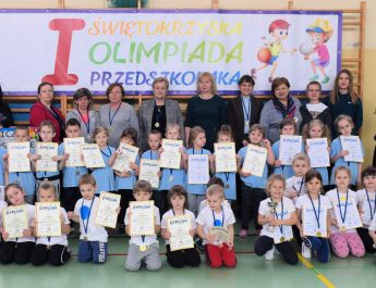 Mali olimpijczycy rywalizowali w Kluczewsku w ramach Świętokrzyskiej Olimpiady Przedszkolaka