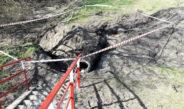 Pierwsza taka akcja włoszczowskich strażaków. Uratowali psa uwięzionego w kanale wodnym koło Klekotu