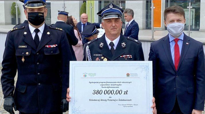 OSP Żelisławice otrzymała dofinansowanie na samochód