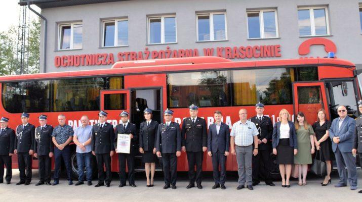 Przekazanie autobusu jednostce OSP Krasocin
