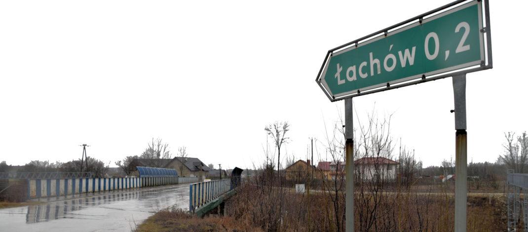 Nowy wiadukt przed Łachowem