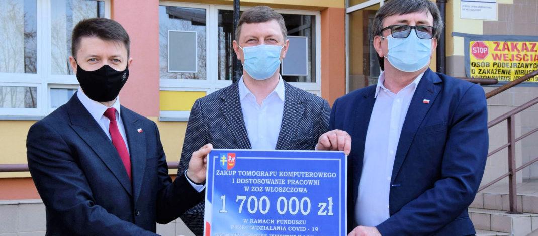 Szpital we Włoszczowie będzie miał własny tomograf. Pomógł poseł Bartłomiej Dorywalski. Skorzystały też gminy Krasocin i Secemin
